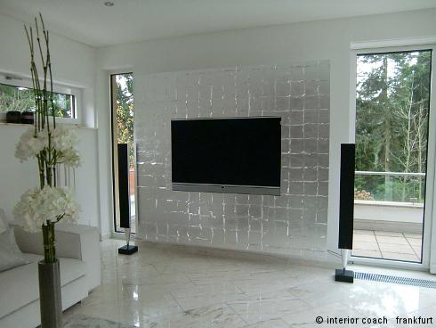 Tv Wand Design veredelung einer wandscheibe