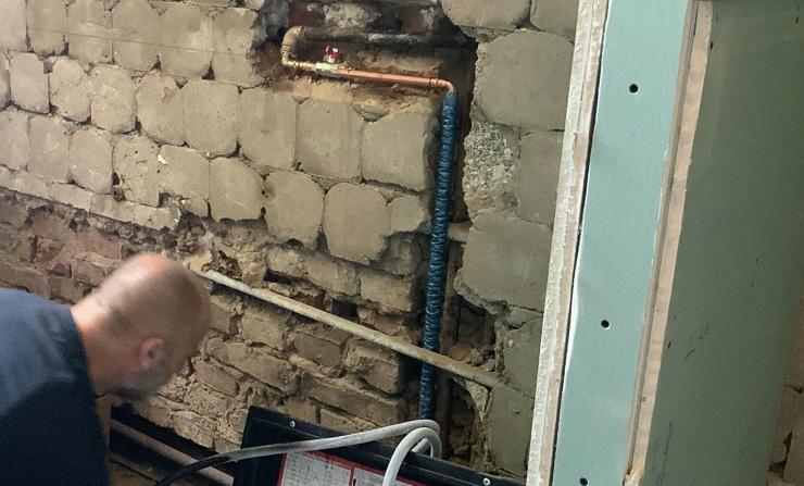 Reparatur Wasser Wandleitung