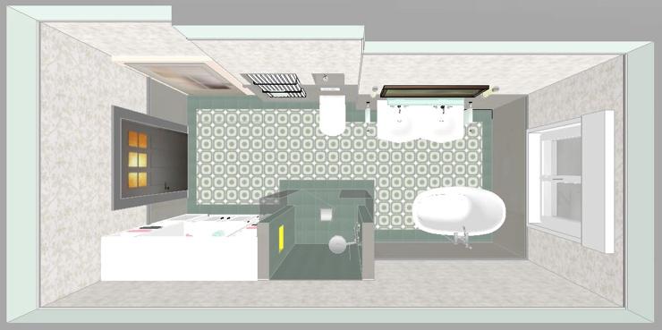 Planungszeichnung 3D Badumbau