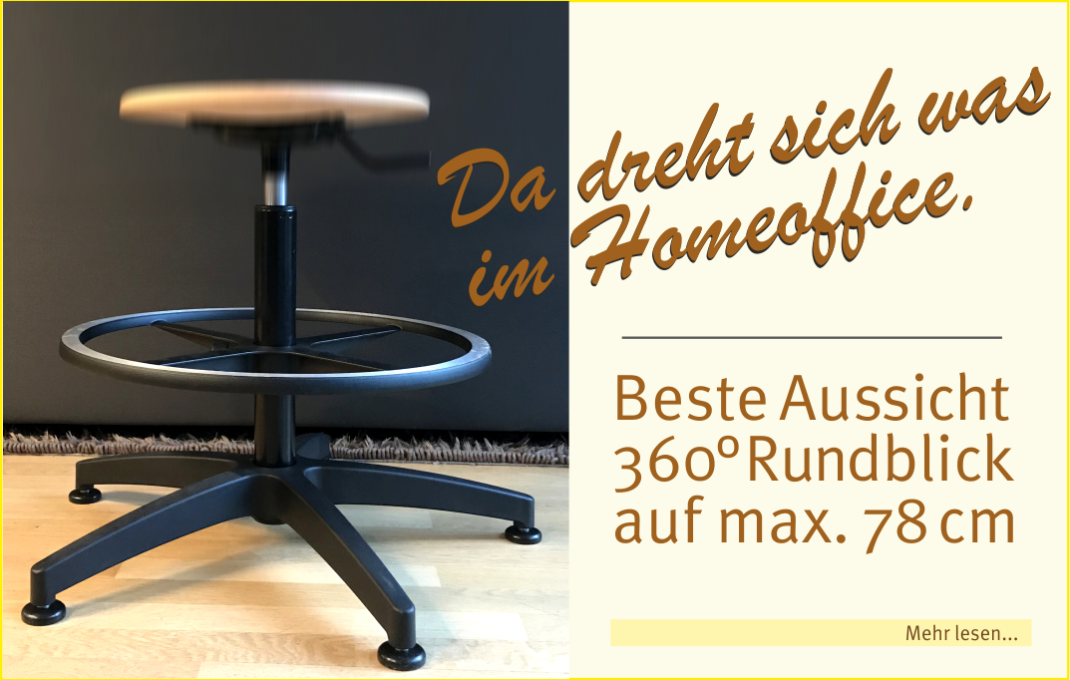 Drehstuhl Hocker Homeoffice