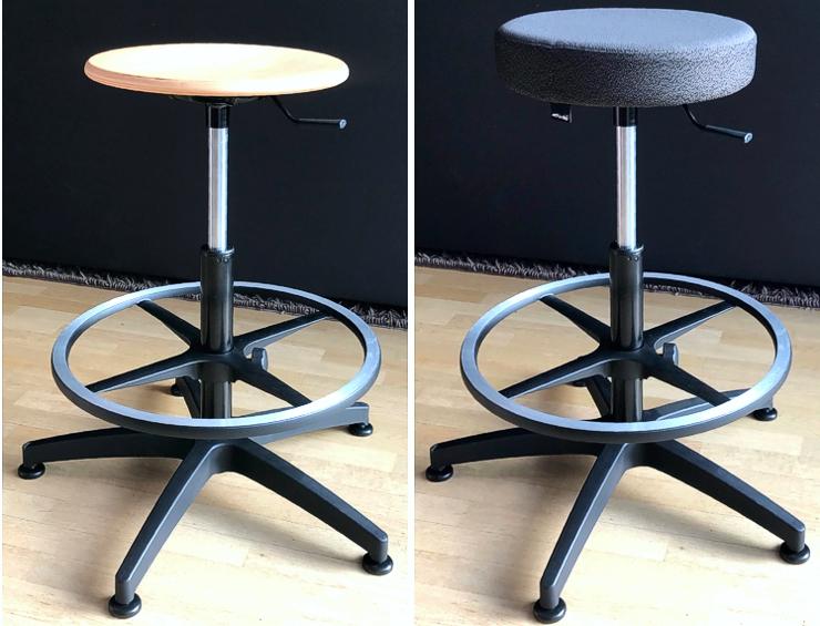 Drehstuhl mit unterschiedlichem Sitz